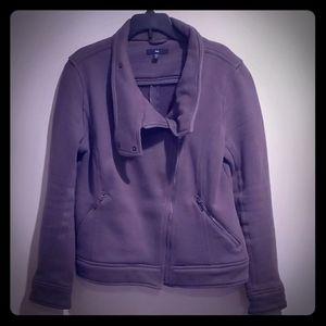 GAP Asymmetrical charcoal jacket